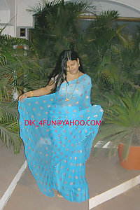 Horny Looking Indian Wife Blue Sari Pictures