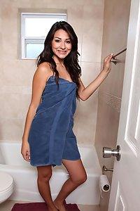 Cute indian girl exposing herself in shower