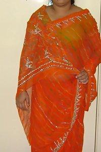 Indian Housewife Kishwar Saree Stripped Nude