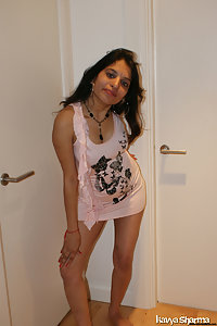 Indian Nude Babe Pink Tight Top Lifting Nude