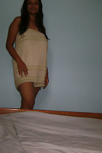 Indian Girl After Shower Unwrapping Her Towel