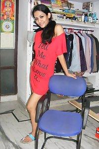 Young Indian Girl Raveena Posing Hot