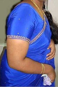 Indian Aunty Bano Blue Blouse Stripped Nude